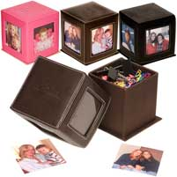 Eco Leather Photo Cube