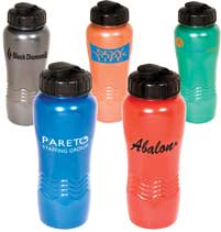 Metallic Recycled Sports Bottles