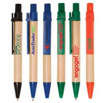 Mini Eco Paper Barrel Pens