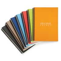 Wire Bound Custom Recycled Paper Notebooks